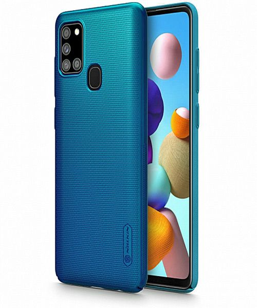 Nillkin Frosted Shield Case for Samsung Galaxy A21S in Blue 1