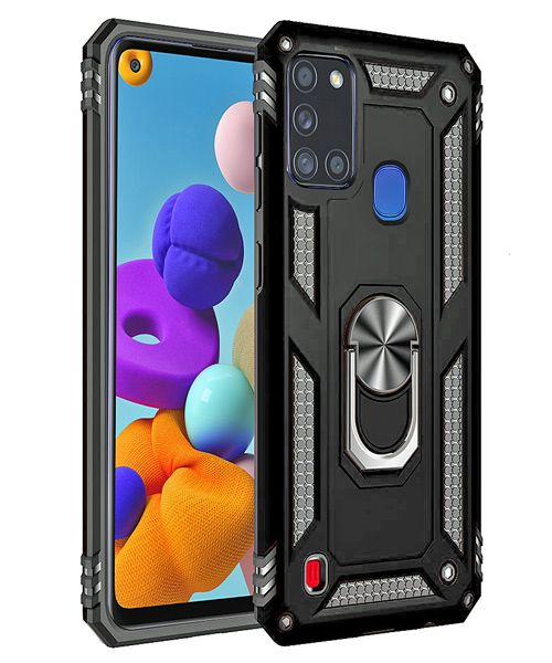 Ring Armor Case For Samsung Galaxy A21S Black